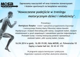 Bezpłatne Warsztaty Motoryczne - Kwiecień 2014