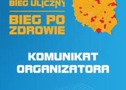 Grafika ostrzegawcza informująca o komunikacie organizatora