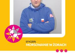 Na grafice na żółtym tle zdjęcie pana Janusza Śledzia