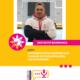 Na grafice na żółtym tle zdjęcie pana Krzysztofa Biodrowicza