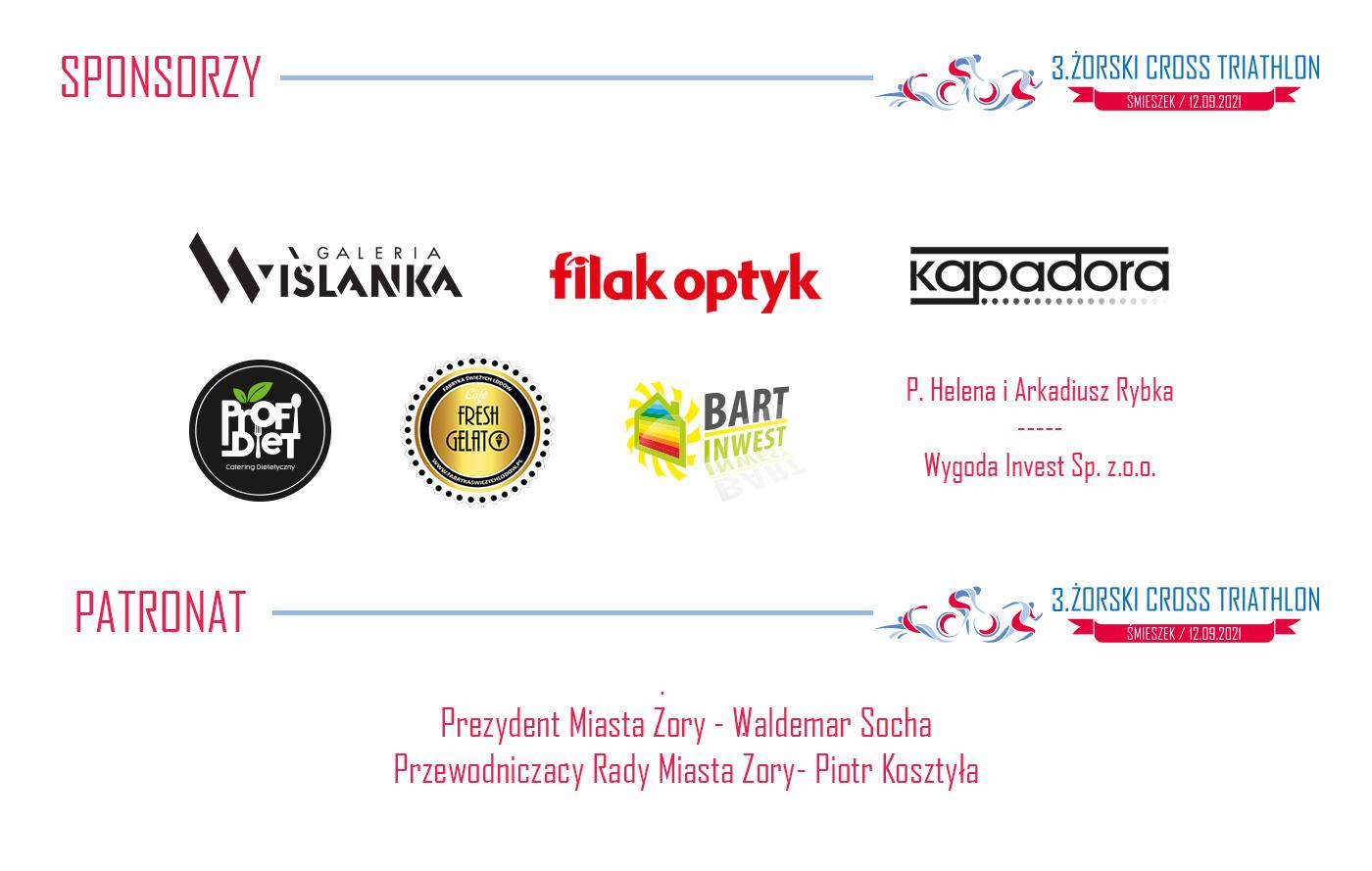 grafika przedstawia logotypy sponsorów wydarzenia na białym tle